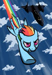 Rainbow Dash flying with SR71