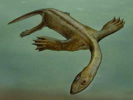 Keichousaurus hui by GaffaMondo