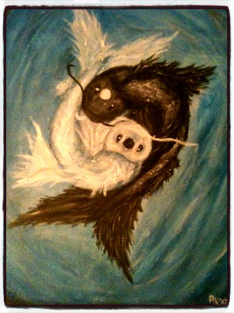 Well-known Yin Yang Koi Fish painting by Tawkenom on DeviantArt RR93