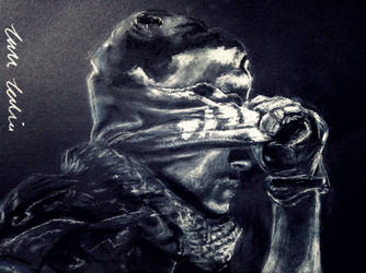 Call of Duty Ghosts Drawing with Chalk by JadeSura