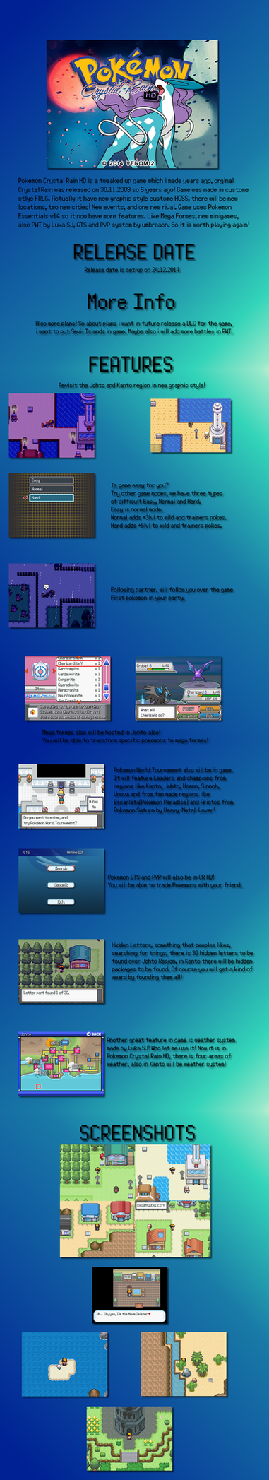 Pokemon Crystal Rain HD Presentation by Venom12314