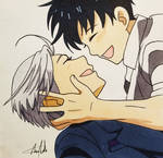 Victor and Yuuri by MeowImAvery