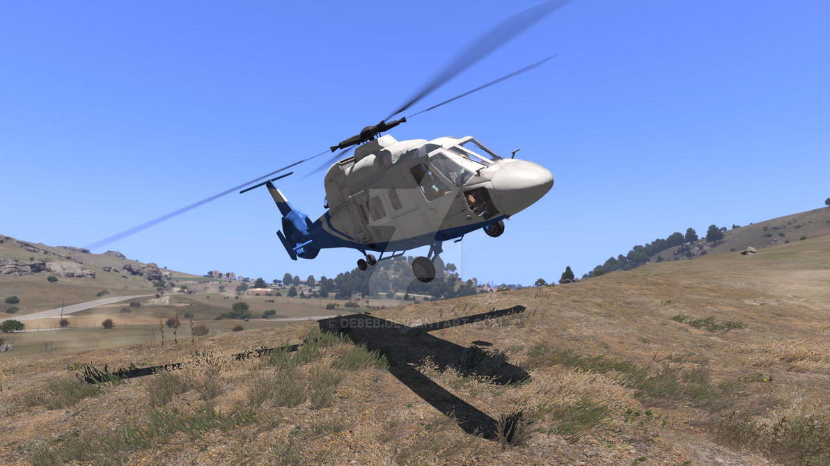 Arma 3 Elicottero : Arma rescue helicopter having fun in the hills by de eb