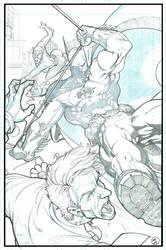 Batman beats down the Joker by sunny615
