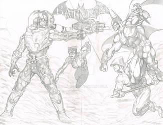 Batman: Arkham City Commission by sunny615