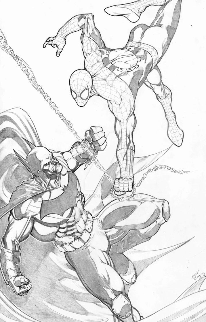 Spider-Man vs Batman by sunny615