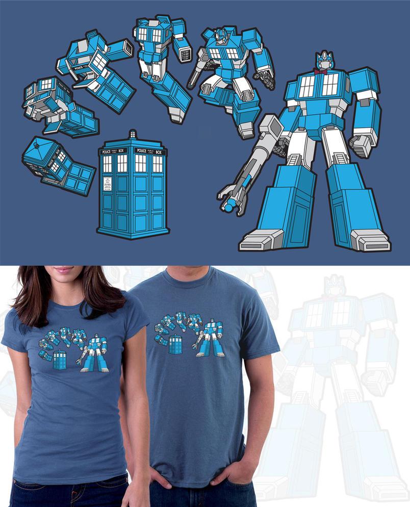 TARDIS Prime T-Shirt by JasonCasteel