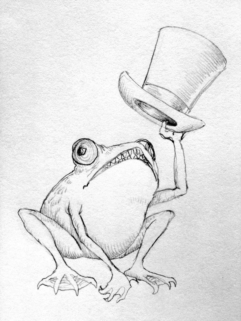 Vintage frog with top hat