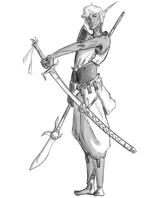 Dark elf guy by Keydan