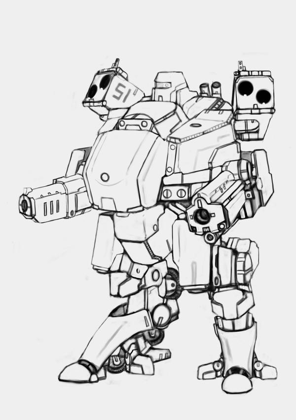 LTA-21 Racoon (uncolored) by Keydan