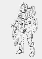 WASP SF suit (uncolored) by Keydan