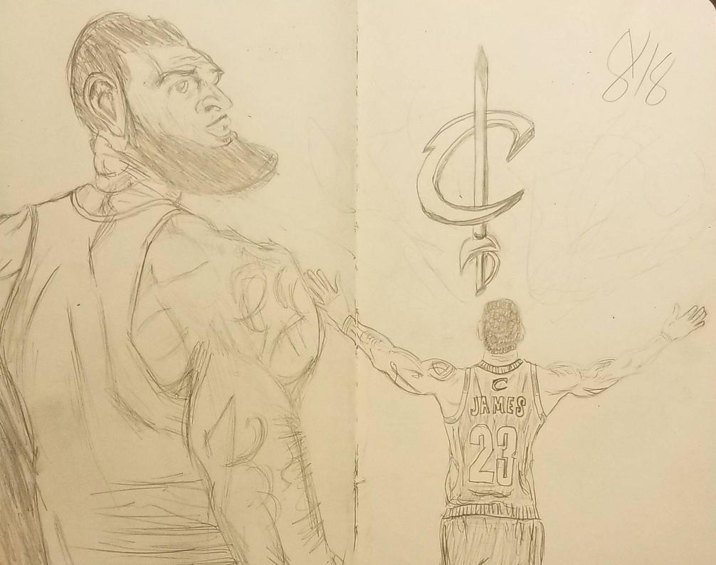 LeBron quick sketches by andyosu20