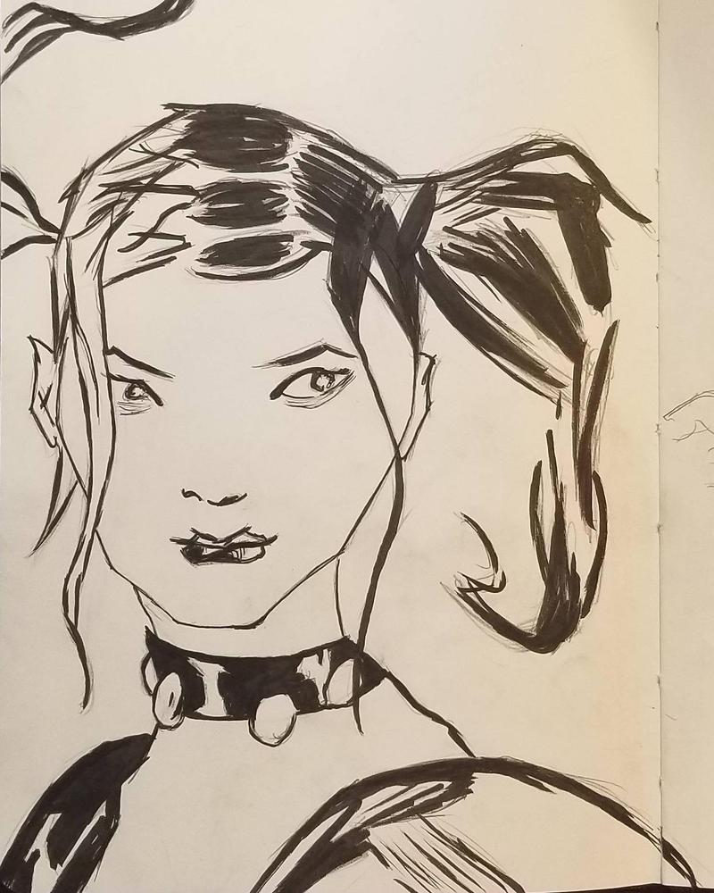 Harley Quinn headshot by andyosu20