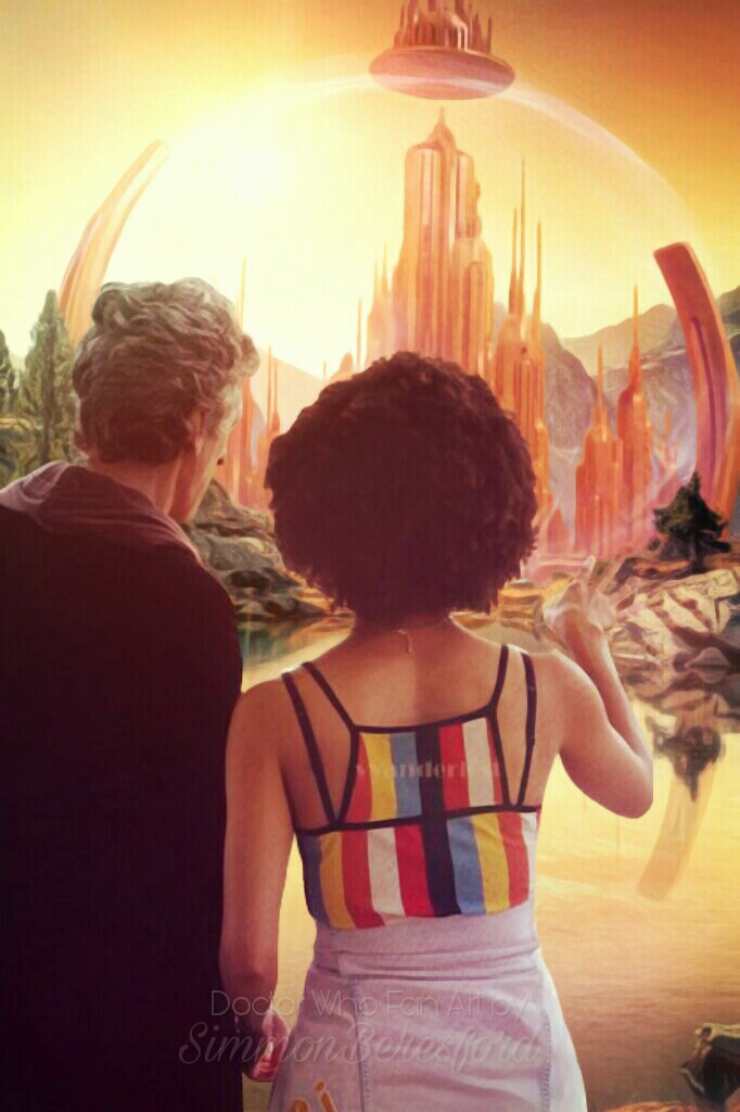 The Doctor and Bill on Gallifrey by SimmonBeresford