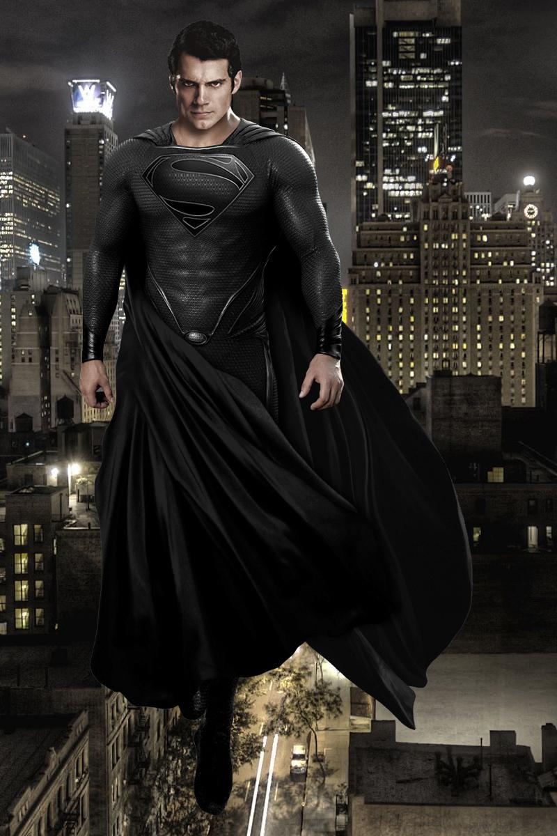 Black Suit Superman by iRobathon on DeviantArt  Black Suit Supe...