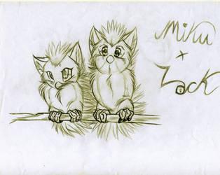 Miku and Lock Baby Furby