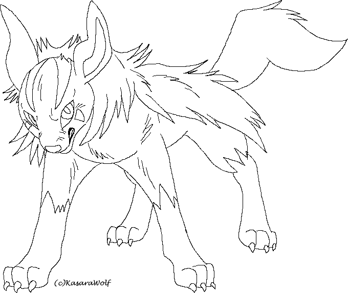 mightyena coloring pages - photo#10