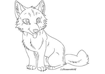 Wolf Pup Template by KasaraWolf