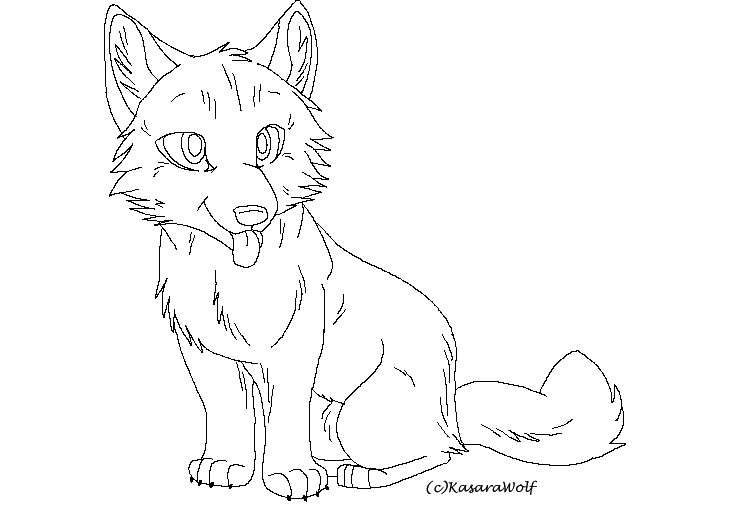 wolf pup cartoon coloring pages | Recolor Wolf Bases *Requests* | School of Dragons | How to ...