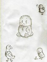 Ducks SKETCH by KasaraWolf