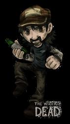 Little Drunk Zombie Killer Key Chain Design by KasaraWolf