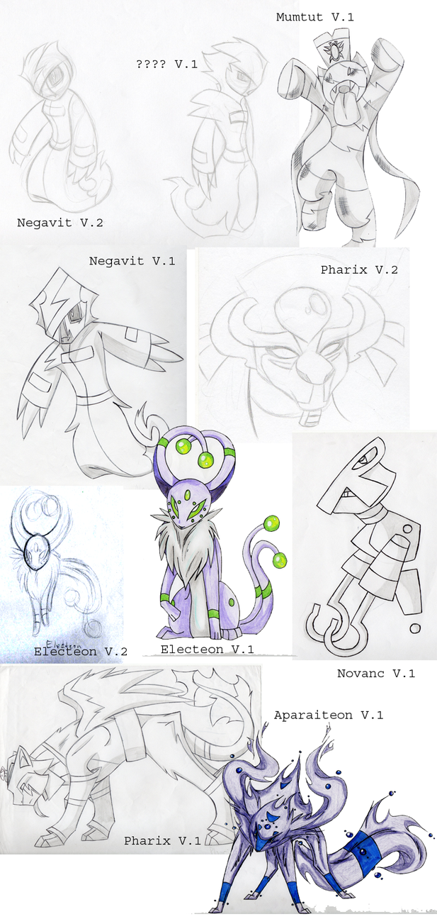 OLD 2007 Ghost/Psychic Pokemon Creations by KasaraWolf on ...