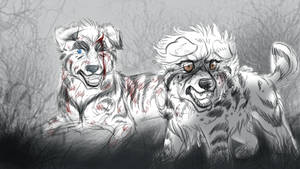 Leave My Brother ALONE SKETCH by KasaraWolf