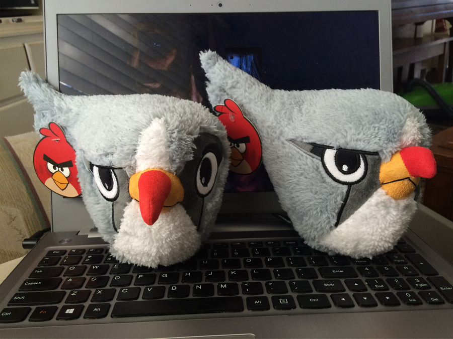 Angry Birds 2 Silver Plush Toy