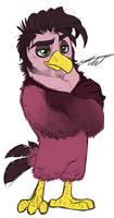 Handsome Dad Bird by KasaraWolf