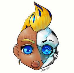 Cyborg Commission by DigitalYuki