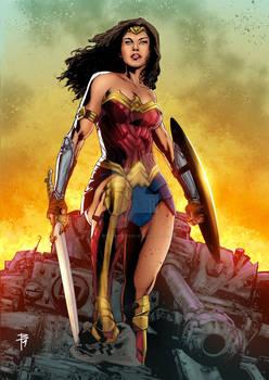 Wonder Woman By Leno Carvalho color Beto Menezes