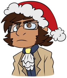(Dungeons and Dragons) Graham in a Santa Hat by TankySina