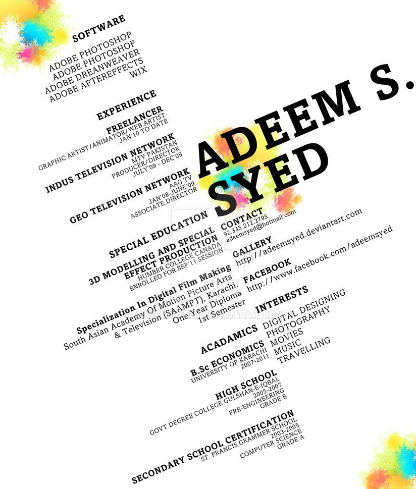 RESUME by adeemsyed