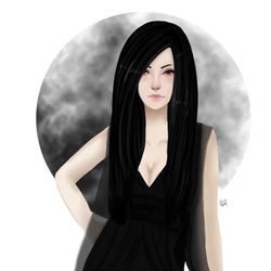 Dark Goddess-Art Trade- by cherrydoveberry