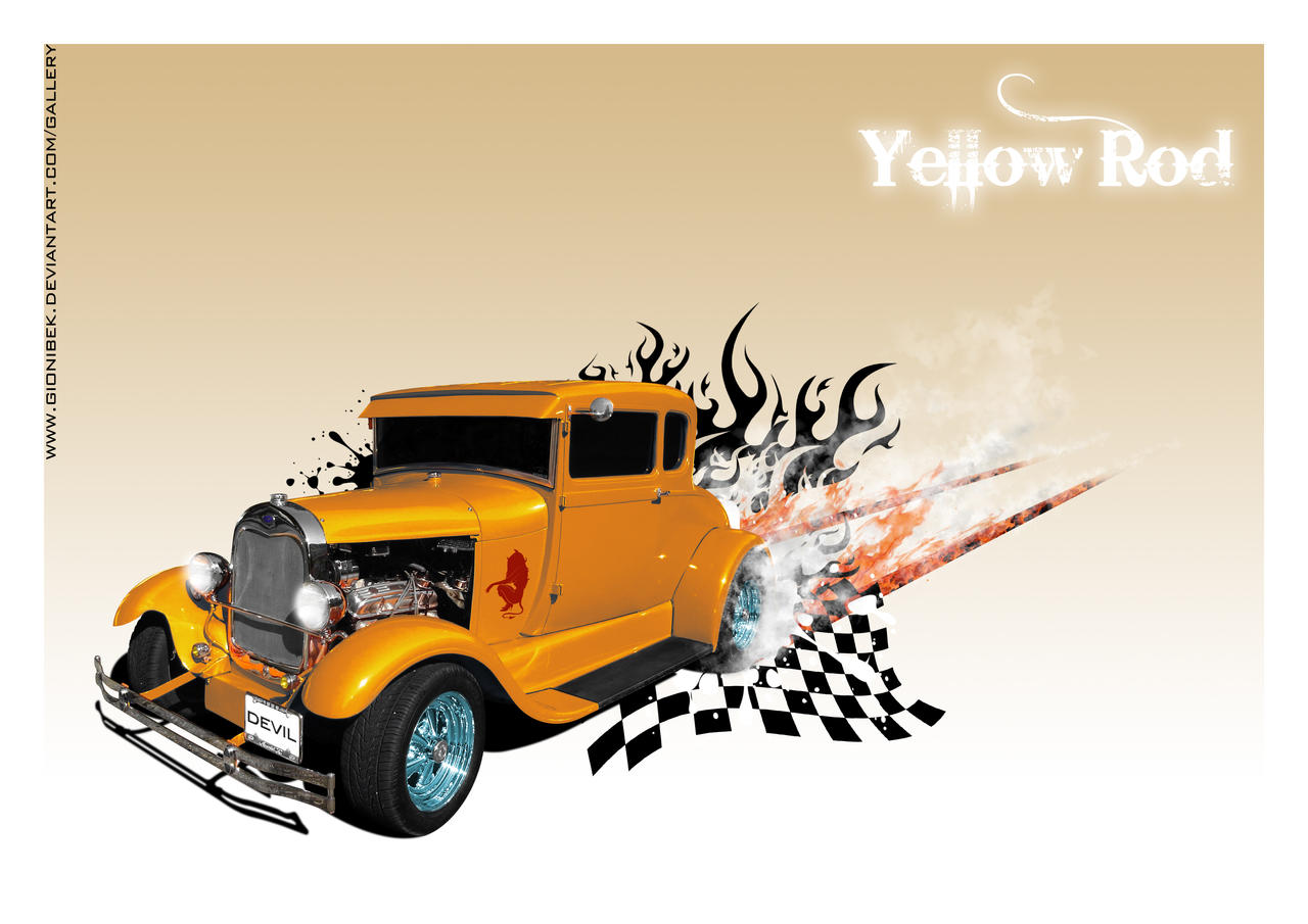 Yellow Hot Rod, No2 by