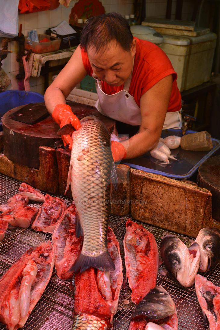 Hong Kong fishmonger by BR7970