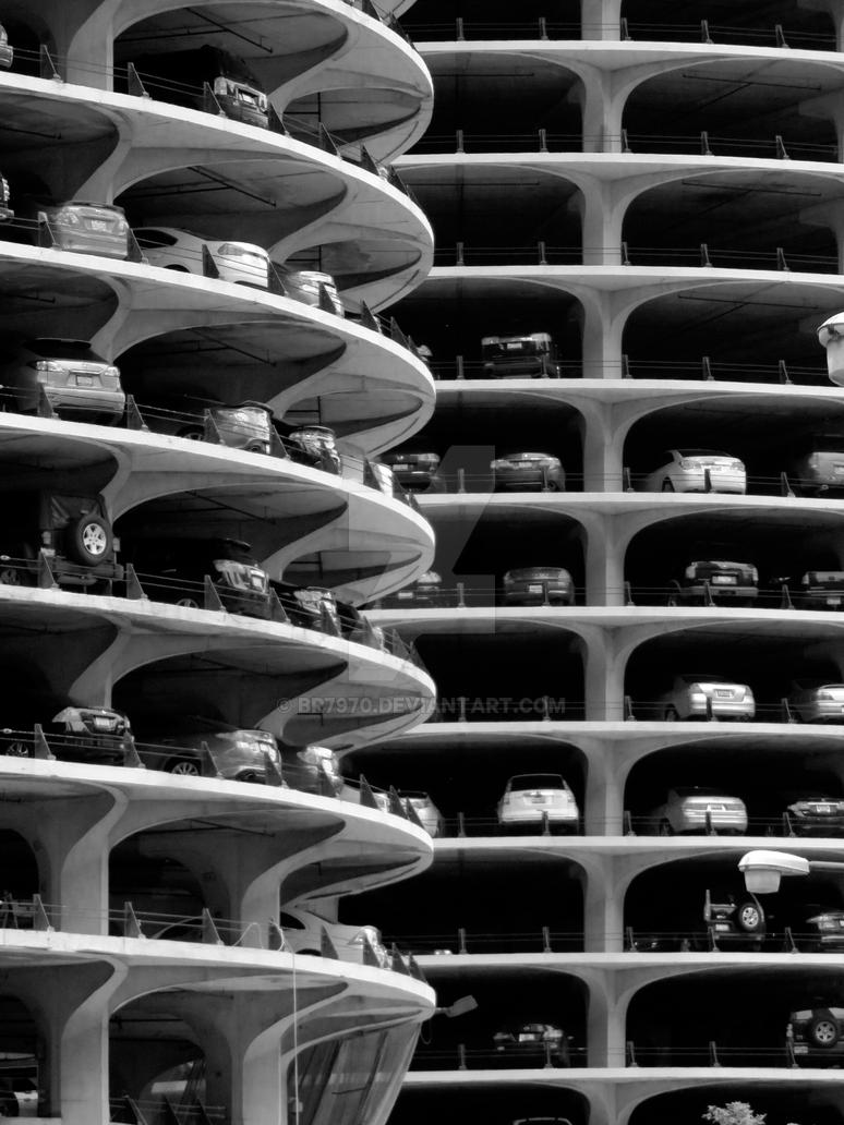 Chicago Carpark by BR7970
