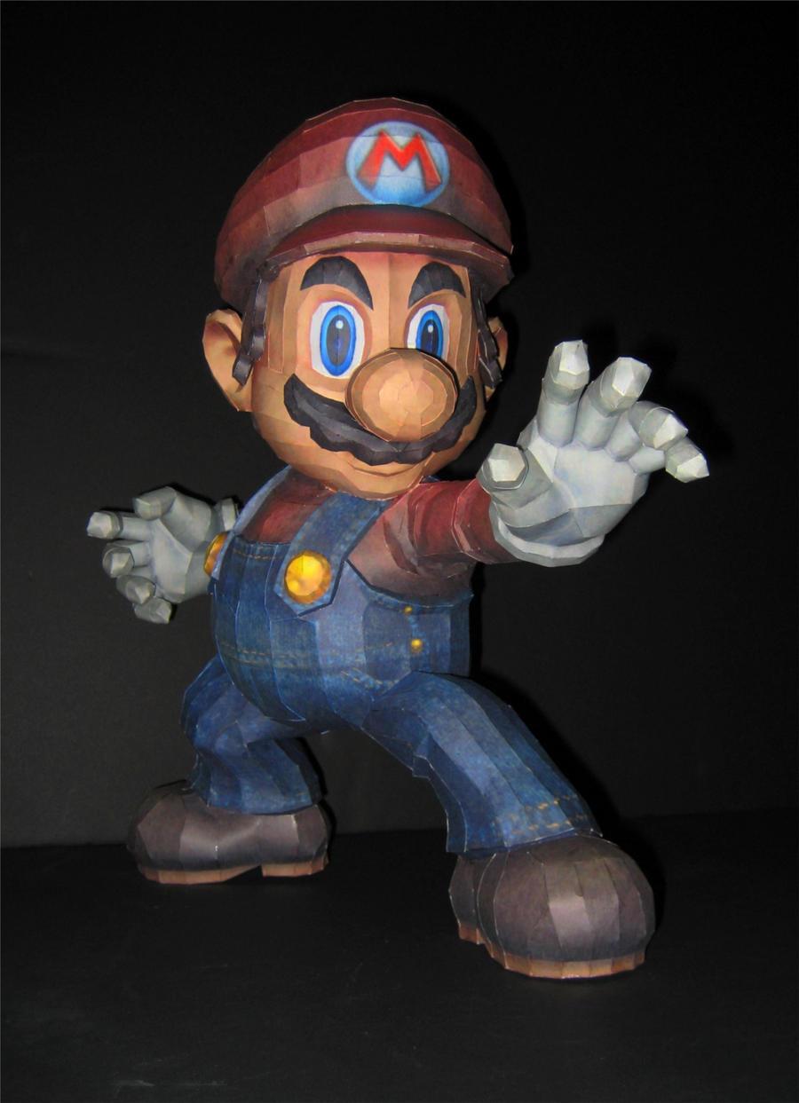 SSBB Mario Papercraft by TouchFuzzyGetDizzy