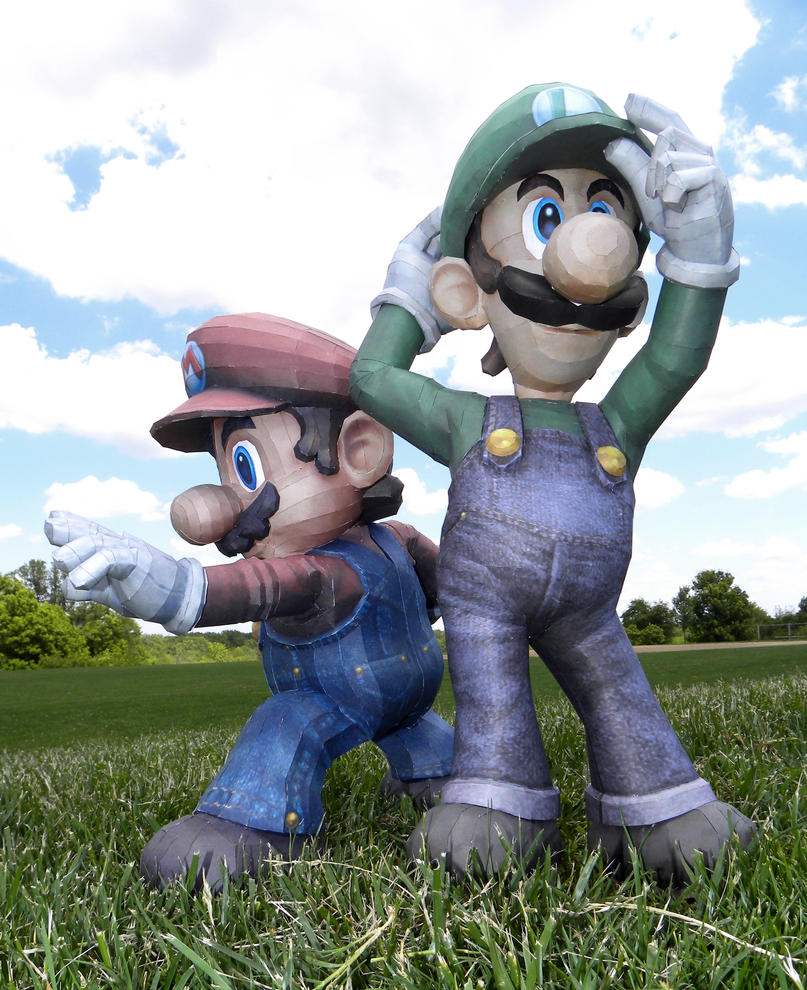 Mario and Luigi Test Shot 1 by TouchFuzzyGetDizzy