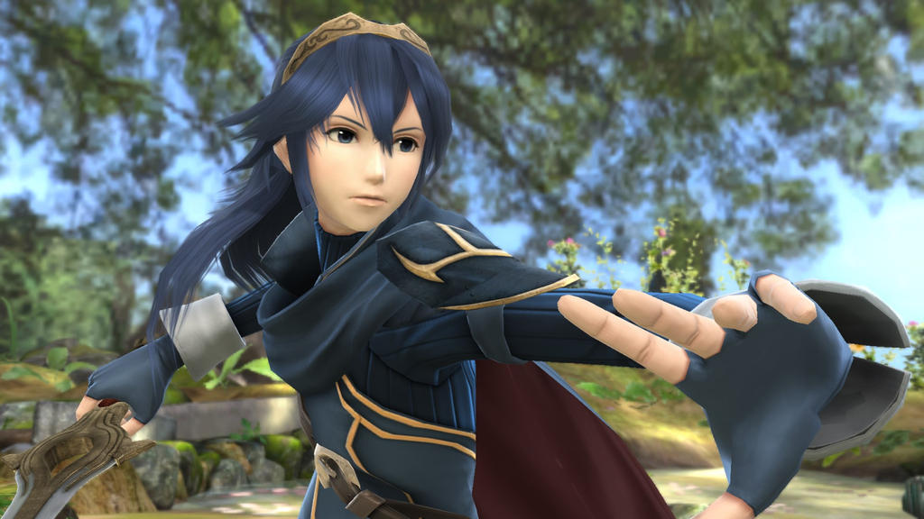 Armored Lady Monday Lucina in her great lord armor t