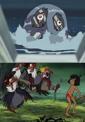 The Vultures scared of Raremon