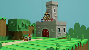 Goomba King's Fortress in Color Splash