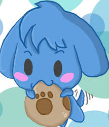 Yay for blue puppy