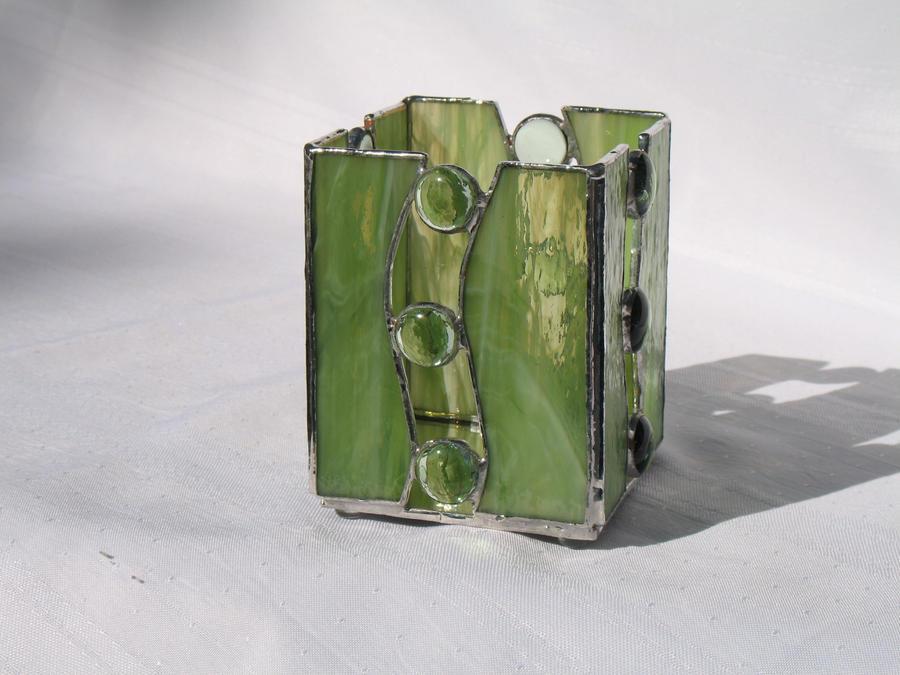 Stained Glass Candleholder by gailglassgarden on DeviantArt
