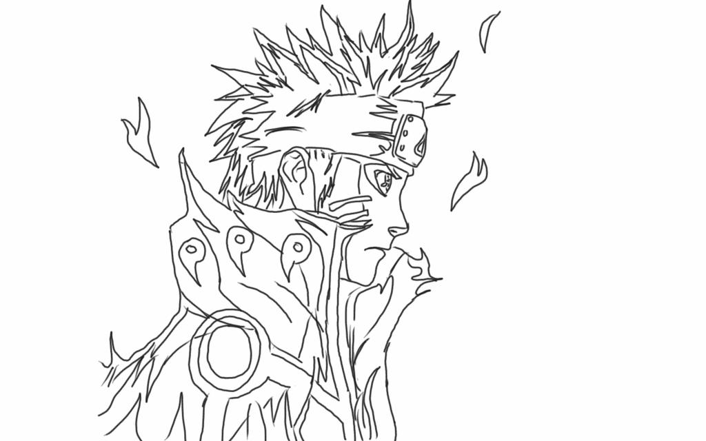 Naruto Nine Tailed Fox Cloak Coloring Pages Coloring Pages