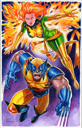 Wolverine and Phoenix by jFury