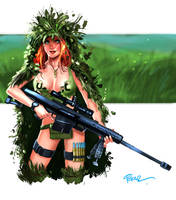 Millie in a Ghillie by jFury