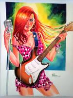 Guitar Girl by jFury
