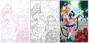 Alice #6 cover for Phoenix Comic con