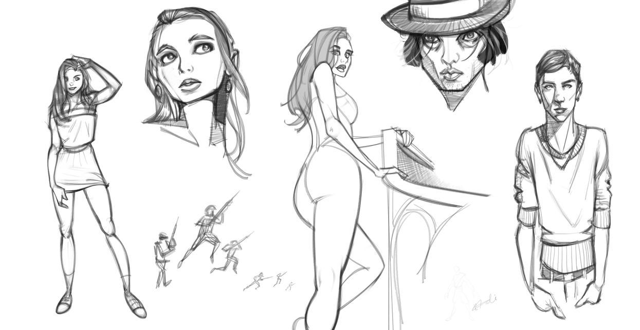 Midnight Sketch! by devBabar